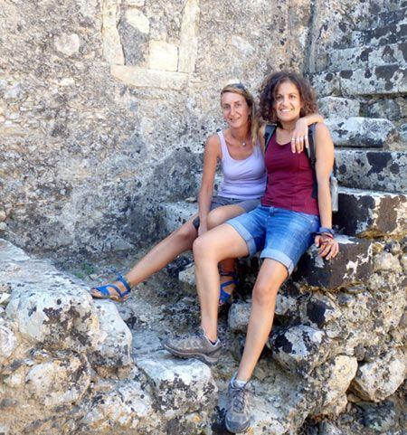 Fotiní Velegraki y Beatriz Arbeloa